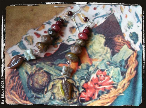 Orecchini tono brunofarfalle